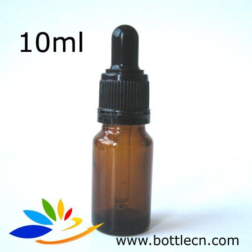 10ml amber essential oil glass bottle rounds w black. Black Bedroom Furniture Sets. Home Design Ideas