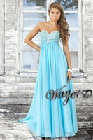Amazing Sweetheart Crystal Beaded Empire A-line Chiffon Prom Dress HL-PD531