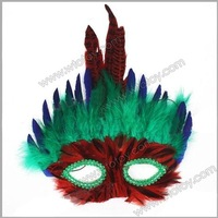 MARDI GRAS Ball & Party Costume Masquerade Feather Mask for Kids 12196