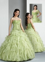 Free Shipping!Strapless Lace up Ball Gown Prom Dress Custom-Made Quinceanera Dresses