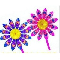 free shipping 50pcs/lot fashion sunflower Colorful windmill,children's toy wholesale