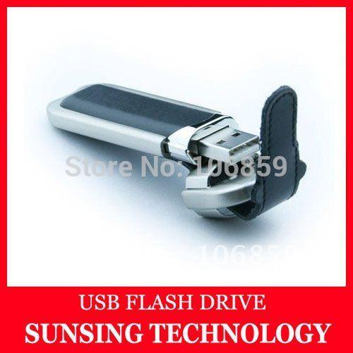 Hotselling Usb Stick 1gb 2gb 4gb 8gb 16gb leather usb pen stick Free Shipping(China (Mainland))