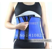 Blue neoprene QH-0017  Breathable lumbar support/waist support  slimming belt