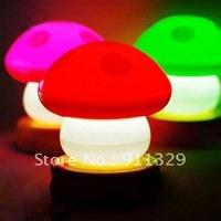 Best selling! Fashion LED Mushroom Lamp,Night light, Christmas Gift. Free shipping! Retail&Wholesale