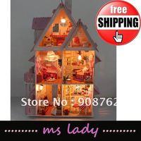 EMS Free Shipping! 2012 popular diy gift diy house model hot