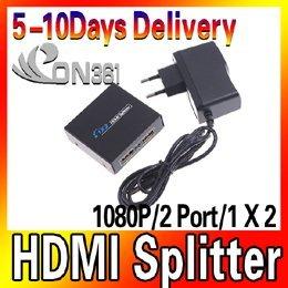 Hot Selling 1080P 2 Port 1 X 2 HDMI Splitter Switcher For HDTV PS3 DVD
