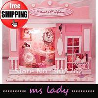 2012 diy gift mini building model popular diy cabin free shipping HK airmail