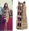 Fashion vintage dot print dress/retro contrast color dot dress/Free shipping/ RX003