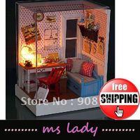 Free Shipping DIY house model 2012 DIY gift DIY building HK airmail