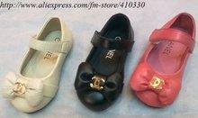 Wholesale girls temperament shoes /Princess noble bow Sandals /beautiful kids dance shoes, casual children's Flip Flops(China (Mainland))