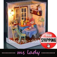 DIY gift 2012 fashion gift popular diy gift diy house model free shipping HK airmail