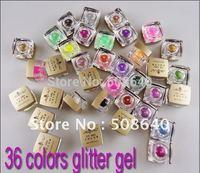 Excellent Hot Sale 36colors UV color glitter Powder gel Wholesale For Nail Art Beauty Desgin Product 5ml each Good Quality 232