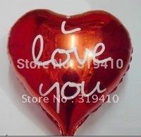 18inch 45cm I love you heart shaped balloons foil balloon metallic balloons x 50pcs