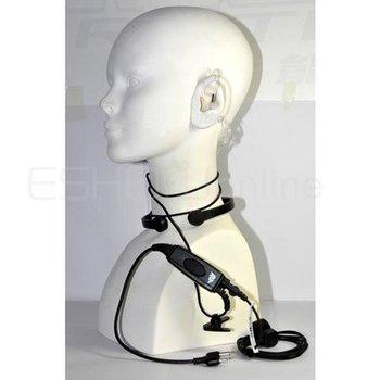 20pcs Throat Vibrate MIC Earpiece for ICOM F3 F3S F4 F11/21/24/V8TH7 T22A Radio Walkie talkie transceiver interphone C0118A