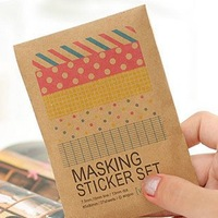 Freeshipping! Cute Colorful Sticker Set/Multifunction/DIY Paper Sticker/Sign post/Label/Gift/