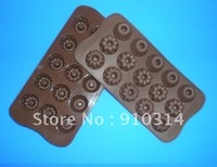1pc 15-Small flowers Silicone Chocolate Mold Muffin Cupcake Cake Baking