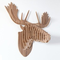 Deer Head For Wall , Hotel Restaurant Home Decoration