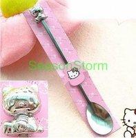 Retail Kids 3D Hello Kitty Cute Cartoon Long Spoon  (SI-13)