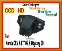 CCD night vision Car Rear View reverse backup Camera license plate light camera car cameras for Honda CRV FIT ODYSSEY