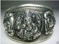 carved elephant tibetan miao silver bracelet Bangle