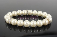 Simple Ivory Pearl Bridal Bracelet Chain Wedding BZ-01
