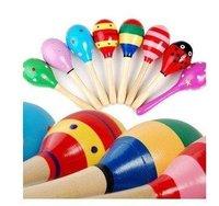 Free shipping,Large sand hammer Music toy Educational preschool toys ecd toys,Children's  wooden toys wooden Shaker random