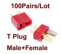 Recommend!! Big Sale Dean Golden T plug Connector For ALL RC helicopter ESC Battery  low shipping