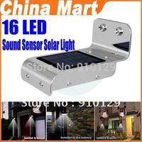 16 LED Solar Light Garden Landscape Lamp Wall Lighting Led Sound Sensor LED