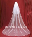 Free shipping 2t   ivory wedding bridal veil Cathedral 3m with comb