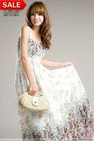 Free shipping 10pcs/lot Bohemia flavor long style brace dresses chiffon maxi dress (Drop shipping support!)  20% discount