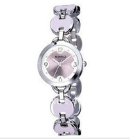 Наручные часы Christmas Gifts Hot Top Selling Fashion Formal Round Shape Print Flower Silver Enamel White Watch By CPAM