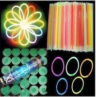 200PCS/LOT  Multi color hot glow stick led color flashing bracelet lighting flash sticks