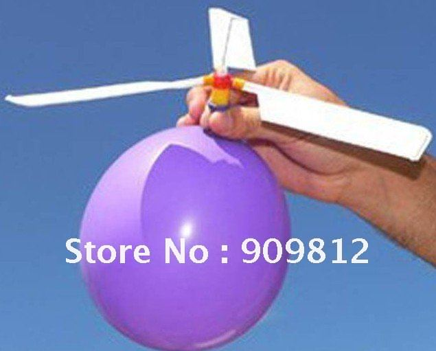 Free Shipping Balloon airplane, Balloon helicopter, Balloon propeller, Novelty toys 8g 20pcs/lot(China (Mainland))