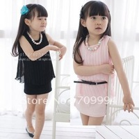 Girls Chiffon Dress 2012 Summer New Fashion Baby children dress  kids clothes free shipping