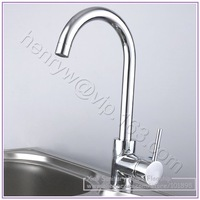 Retail - Luxury Brass Kitchen Faucet, Deck Mounted Kitchen Mixer, Chrome Finish Kitchen Tap, Free Shipping XR12396
