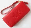 Free shipping Women`s  long style wallet,girl&#39;s clutch bag,fashion purse wallet,lady&#39;s genuine leather evening bags