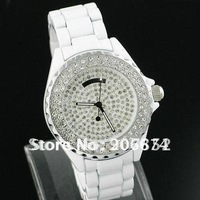 latest style SINOBI 9146 Women's White Dial Stainless Steel Watch with Diamond (White.Black) Women's Watch free shipping