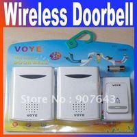 Home doorbell digital wireless doorbell music doorbell v006b2 260feet door bell with retail package Free Shipping