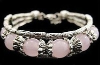 New Pink Asian Jewelry Tibet Silver Bead Bracelet