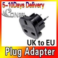 Newest Brand UK to EU AC Power Plug Travel Adapter Socket Converter 10A/16A 240V 5pec/lot Free shipping