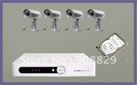 CCTV Security H.264 Network 4CH DVR 420TVL IR camera CCTV system kit