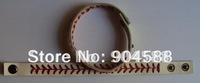 Discount cheapest real leather white  baseball seam bracelets with free shipping