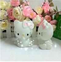 Free shipping Colors Changing MiNi Hello Kitty LED Lamp Decoration Night Light