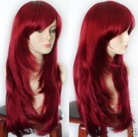 like real hair-! 2012 New fashion lady's Hair long Red wig Wigs ID: 1
