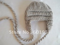 new arrive baby boy ear flat hat ,knitted baby hat 100% handmade 20pcs/lot