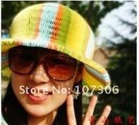 Free shipping 25pcs/ lot New fashion Vase hat /magic cap/travel papper coconut hat/paper hat