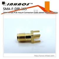 SMA-F-DIP-165    SMA Female PCB-mount Connectors Gold-plated 50Ohm 0~4GHz