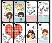 new 2pcs Hard cartoon Valentine Lover Couple Case Cover for i Phone 4 4S 4G