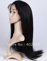 FREE SHIPPING Good quality  Fashion/ straight  hair 100% Indian  hair human hair   full lace wigs