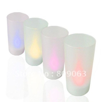 Free Shipping Magic Blow On / Blow Off Heatless Electronic Candle Set of 4